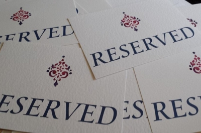 Bespoke Reserved Cards