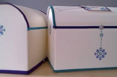 Blue & Teal Card Collection Boxes