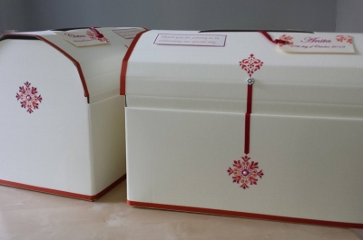 Burnt Orange Card Collection Boxes