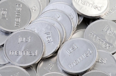 Chocolate Coins Just Married Pk/180