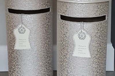 SILVER SAREE TALL POST BOX PUREC