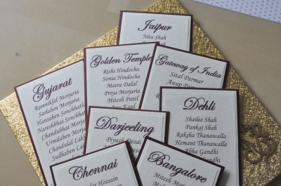 Table Cards for seating plan