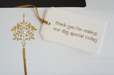 Tags for card collection boxes or Favours